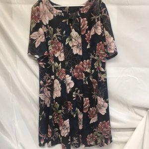 Roz & Ali woman size 24 floral dress new